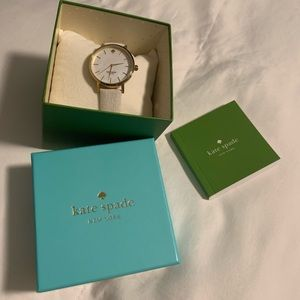 Kate spade white leather band watch
